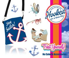Hooked on a Blue Life Cross Body Bag Hey Sailor! #hey #heysailor #hookedonabluelife #navy #sailor #love #pink #orange #lbi #longbeachisland #lbiismyhappyplace #travel #crossbody #bag #sandals #toms #gucci #sunglasses #lagos #lagosjewelry #teal #anchors #ahoy #sailaway #boating #clouds #hooked #bracelet #beach #vacation