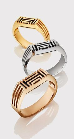I would only wear a fitbit if it looked this pretty. Tory Burch for Fitbit Metal Hinged Bracelet in Gold, Silver and Rose Gold (rose gold)