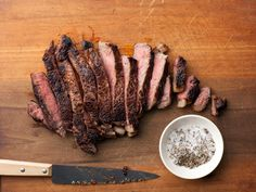 Pan-Seared Rib-Eye Recipe : Alton Brown : Food Network - THE best wY to cook a steak at home Rib Eye Recipes, Steak Recipes, Cooking Recipes, Wing Recipes, Steak Tips, Top Recipes, Quick Recipes, Cooking Tips, Recipies