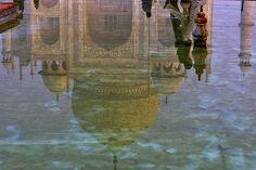 TAJ MAHAL REFLEJADO Agra, Taj Mahal, Painting, Quran Verses, Make Art, Painting Art, Paintings, Painted Canvas, Drawings