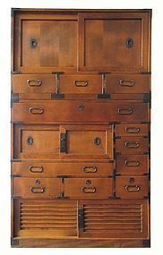 Antique Japanese Two-Section Hinoki Tansu : More At FOSTERGINGER @ Pinterest