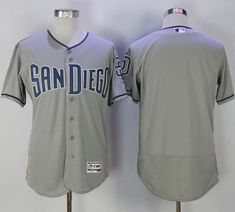 Padres Blank Grey Flexbase Authentic Collection Stitched MLB Jersey