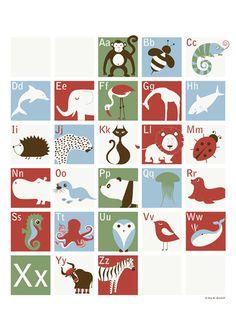 Tier ABC Poster zum Schulanfang