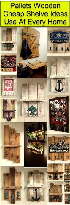 Pallet Wood Shelve Ideas
