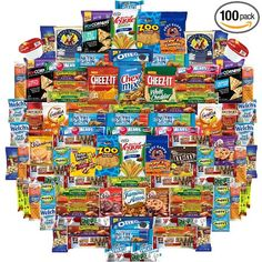 *Care Package Includes An Assortment Of 100 Individually Wrapped Single Serve Snacks *Includes Simple Recipes With Chips Booklet By Variety Fun *Variety Fun by Custom Varietea Specializes In Creating Delicious Variety Packs For Everyone To Share And Enjoy.  *All Snacks Are Carefully Handpicked