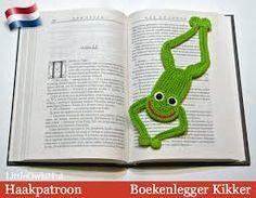Afbeeldingsresultaat voor boekenlegger haken