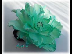 МК Цветы из фоамирана, простой способ создания украшения для волос.