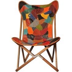 Dario Alfonsi Patchwork Leather Tripolina Chair (91,600 PHP) ❤ liked on Polyvore featuring home, furniture, chairs, colorful furniture, patchwork furniture, faux leather chair, handmade furniture and faux leather furniture