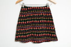 Super Cute Vintage 90s Floral Pint Grunge Girl High Waisted School Girl Skirt by LipstickDinosaur on Etsy