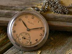 Russian watch Rare Vintage 15 jewels Salut  Molnija  Russian Men's Pocket  watch USSR Working