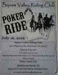 Squaw Valley Riding Club Poker Ride