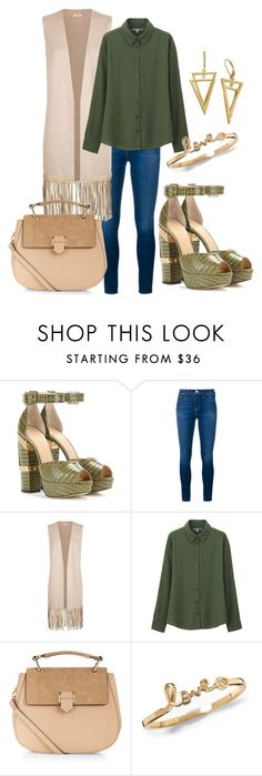 """""""Untitled #229"""" by jpeacock on Polyvore featuring Charlotte Olympia, Frame Denim, Vince, Uniqlo, Accessorize, women's clothing, women, female, woman and misses"""