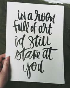 i'd stare at you // #handwrittenbycassi #handlettering #brushlettering #calligraphy #moderncalligraphy #typography #thedailytype #thatsdarling #darlingweekend #maker #creative #artistsoninstagram #hbc