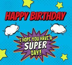 Happy Birthday - Superhero