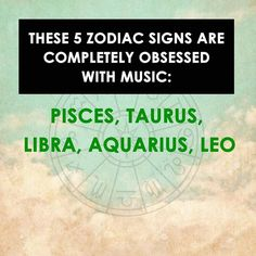 I'm an Aries and when I'm not in school, I'm listening to music....
