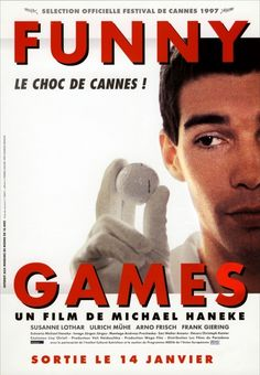 Funny Games is a 1997 Austrian psychological thriller film written and directed by Michael Haneke. Scary Movie Films, Horror Movie Posters, Indie Movies, Horror Films, Old Movies, Film Movie, Cinema Film, Cinema Movies, 2017 Movies