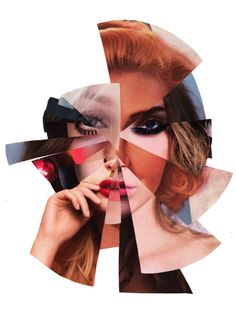 Michelle Claesson Eismann - springboard off her artwork; try piecing together your own face from magazine pictures!