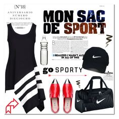 """""""No 342:Go Sporty (2)"""" by lovepastel ❤ liked on Polyvore featuring Sinclair, Y-3, NIKE, Nike Golf, Dot & Bo and sportystyle"""