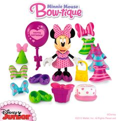 Disney's Minnie Mouse Birthday Bowtique: Dress Minnie for the party with easy, snap-on fashions!