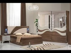 modern bedroom furniture sets and design catalogue. modern bed designs, modern bedroom furniture design, and wooden dressing table designs for bedroom. Modern Bedroom Furniture Sets, Wood Bedroom Sets, Bedroom Door Design, Bedroom Cupboard Designs, Luxury Bedroom Design, Bedroom Cupboards, Bedroom Colors, Interior Design, Inexpensive Furniture