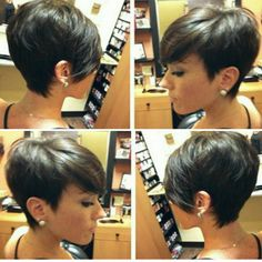 From bobs to pixie hair cuts, short hair styles on a foundation of fairly short choppy haircuts create sassy eye-catching incredibly low-main Pixie Hairstyles, Pretty Hairstyles, Choppy Haircuts, Medium Hairstyles, Hairstyles Haircuts, Short Hair Cuts For Women, Short Hairstyles For Women, Short Hair Styles, Hairstyle Short