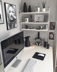 You won't mind getting work done with a home office like one of these. See these 20 inspiring photos for the best decorating and office design ideas for your home office, office furniture, home office ideas Home Office Space, Home Office Design, Home Office Furniture, Home Office Decor, House Design, Home Decor, Office Designs, Modern Office Decor, Study Office