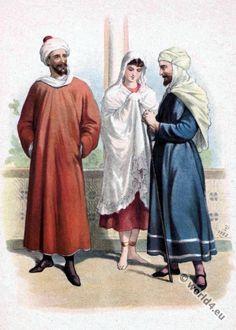 Medieval Arab Moorish robes in 13th century.