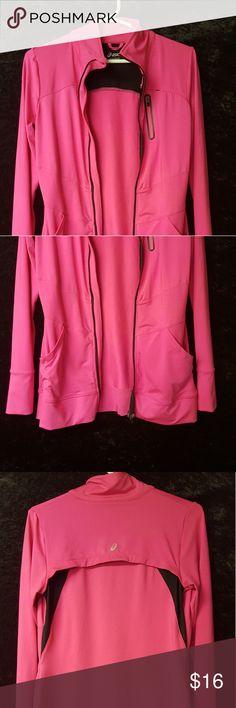 Asics Hot Pink Full Zip Jacket 1 womens Asics Full Zip work out jacket. Size Small. Great Shape. Asics Jackets & Coats Utility Jackets