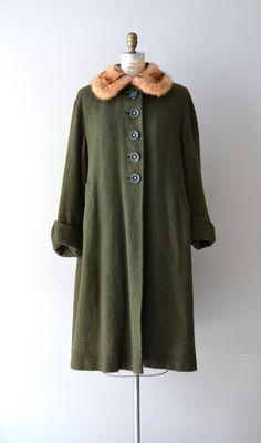 vintage 1930s boucle wool coat #vintage #1930s