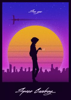 A beautiful Cowboy Bebop artwork featuring Spike Spiegel with some pop art and retro vibes. From the artist Retro Style. Retro Aesthetic, Aesthetic Anime, Cowboy Bebop Wallpapers, Cowboy Bepop, Cowboy Bebop Anime, See You Space Cowboy, Samurai Champloo, Space Cowboys, Film D'animation