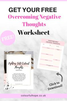 Does your Mental Health cause you to experience negative thoughts? Well, this little printable worksheet will help to eventually stop your brain from doing this. It will Get Rid Of any negative thoughts over time by making you think in alternate perspectives. It will be your first step to overcoming! Mental Health Resources, Health Blogs, Women's Health, Health Tips, Anxiety Tips, Social Anxiety, Therapy Worksheets, Change, Negative Thoughts