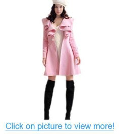 Zeagoo Women's Trench Coat Long Wool Blend Parka Outwear #Zeagoo #Womens #Trench #Coat #Long #Wool #Blend #Parka #Outwear