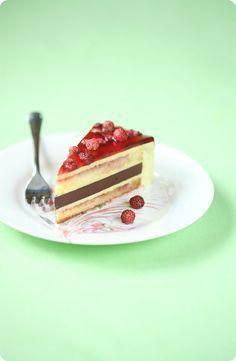 Verdade de sabor: Фисташковый торт с земляникой / Torta mousse de pistáchio e morango silvestre