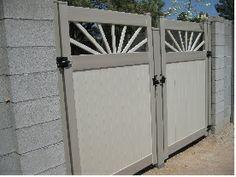 Decorative drive gates w/removable center posts