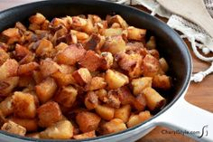 These skillet home fries are the perfect side dish for any meal!