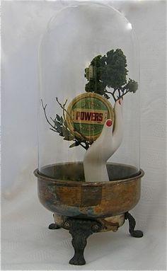 Original sculpture found object assemblage POWERs. $269.00, via Etsy. kracht van de natuur, simpel maar creatief, origineel.