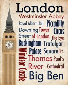 Travel - London Art Print by Geoffrey Sagers | Society6. / Living room