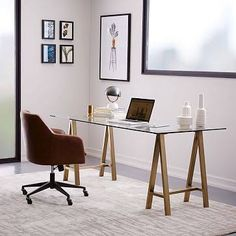 west elm glass top dining table - Google Search