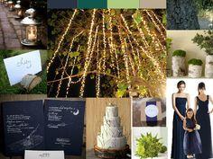 Midnight forest wedding