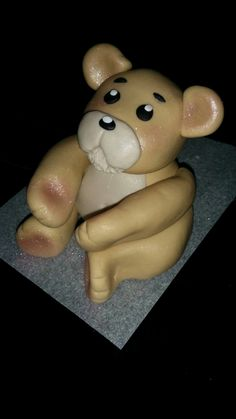 Hand-made Cake Toppers made of home-made marshmallow fondant and modeling chocolate that are edible. Chocolate Cake Toppers, Edible Cake Toppers, Fondant Teddy Bear, Marshmallow Fondant, Modeling Chocolate, Cake Decorating, Special Occasion, Homemade, Gallery