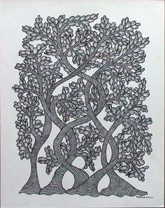 TOL-RS-15  by Rajendra Syam  Size: 35x27.5cms  @ Rs.6000/-