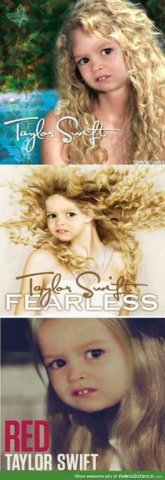 The new covers for Taylor Swift albums