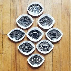 Demetria Chappo Ceramics - #Ceramics #chappo #demetria Ceramic Clay, Ceramic Pottery, Buda Wallpaper, Evil Eye Art, Hamsa Art, Cerámica Ideas, Sgraffito, Pottery Designs, Ceramic Design
