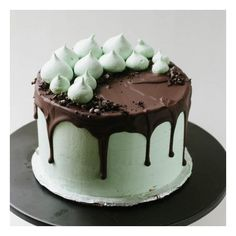 Mint Chocolate Cake foodgawker ❤ liked on Polyvore featuring cakes, food and food and drink