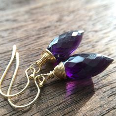 I love the cut of these African Amethyst stones in my new Emmy earrings.