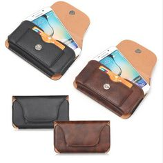 Black/ coffee  Universal Mobile Phone Bag Outdoor PU Leather Bag Loop Belt Pouch Holster Cover Case for Multi Phone Model Pouch
