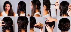 Trenza cosida, encuentra más opciones en peinados con trenzas aquí http://www.1001consejos.com/peinados-con-diferentes-trenzas/