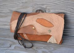 Rustic Leather Clutch  Upcycled Leather Small Purse by Liquidshiva, $38.00
