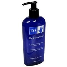 EO Lavender Hand Sanitizer...this stuff smells so good and leaves hands soft. I use it even when my hands are clean!