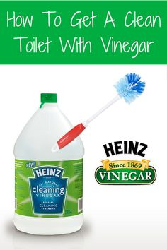 Discover how to get a clean toilet with vinegar. Vinegar is inexpensive, eco-friendly, non-toxic and tough on stains especially limescale deposits.
